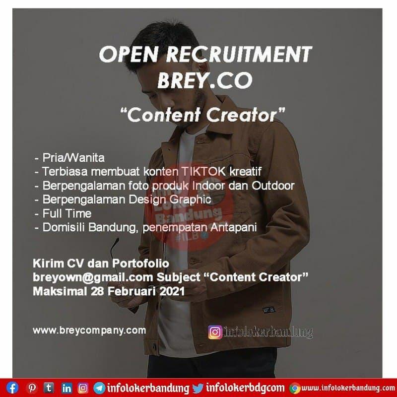 Lowongan Kerja Brey.Co Bandung Februari 2021