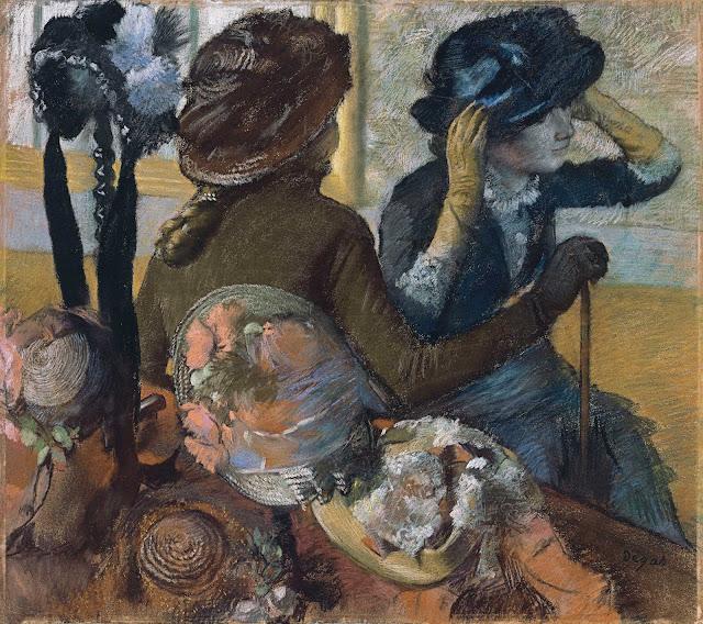 Эдгар Дега - В шляпном магазине (1882)
