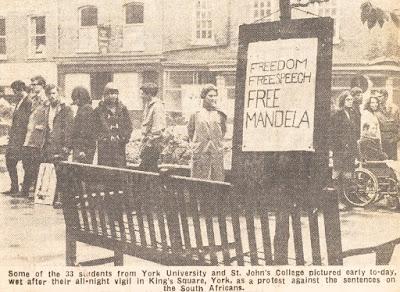 Student protest: Mandela vigil