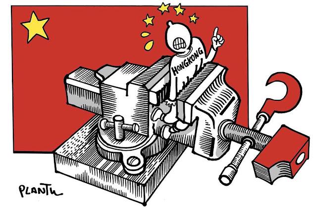 Hong Kong retratada por caricaturista francês Plantu