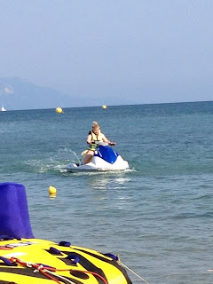 Jet skiing in Kavos