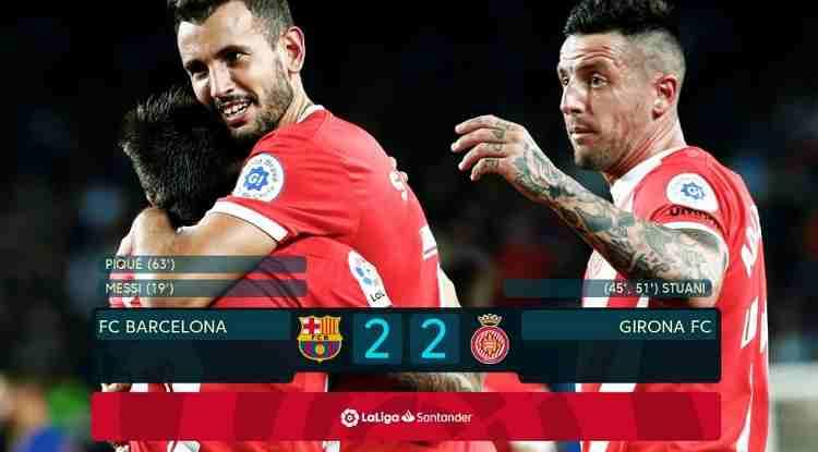 Hasil Barcelona vs Girona Skor Akhir 2-2