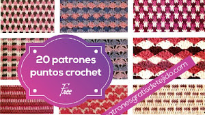 20 Patrones de Puntos Crochet para Descargar