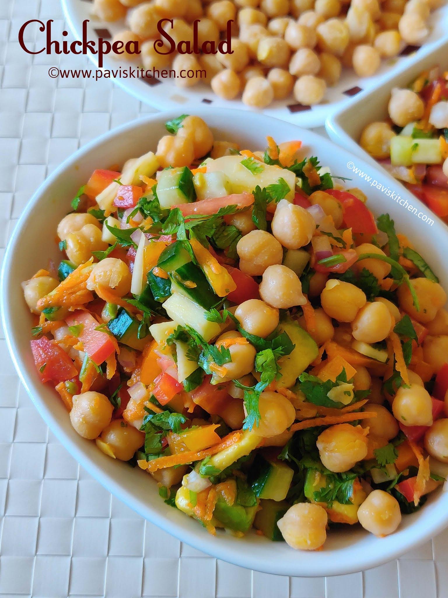 Spicy chickpea salad recipe | Indian chana salad | garbanzo salad recipe | Kondakadalai salad