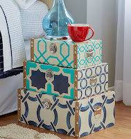Lovely decorative storage box set with cool pattern ideas