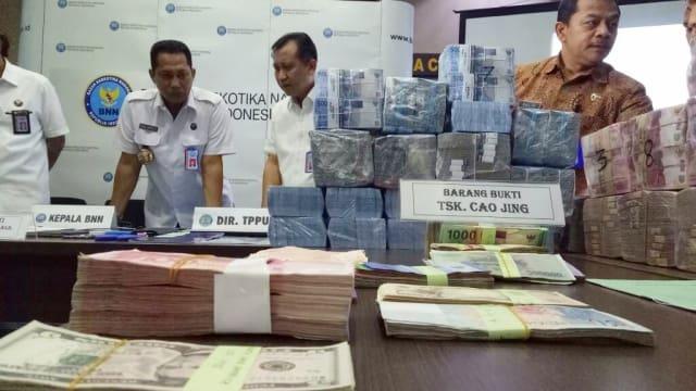 BNN Ungkap Money Changer Milik Cao Jing yang Dijadikan Lokasi Peputaran Uang Narkoba Rp 39 M