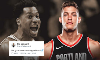 Meyers Leonard E S Wife Claps Back At Hassan Whiteside After His Reaction On Trade To Trail Blazers