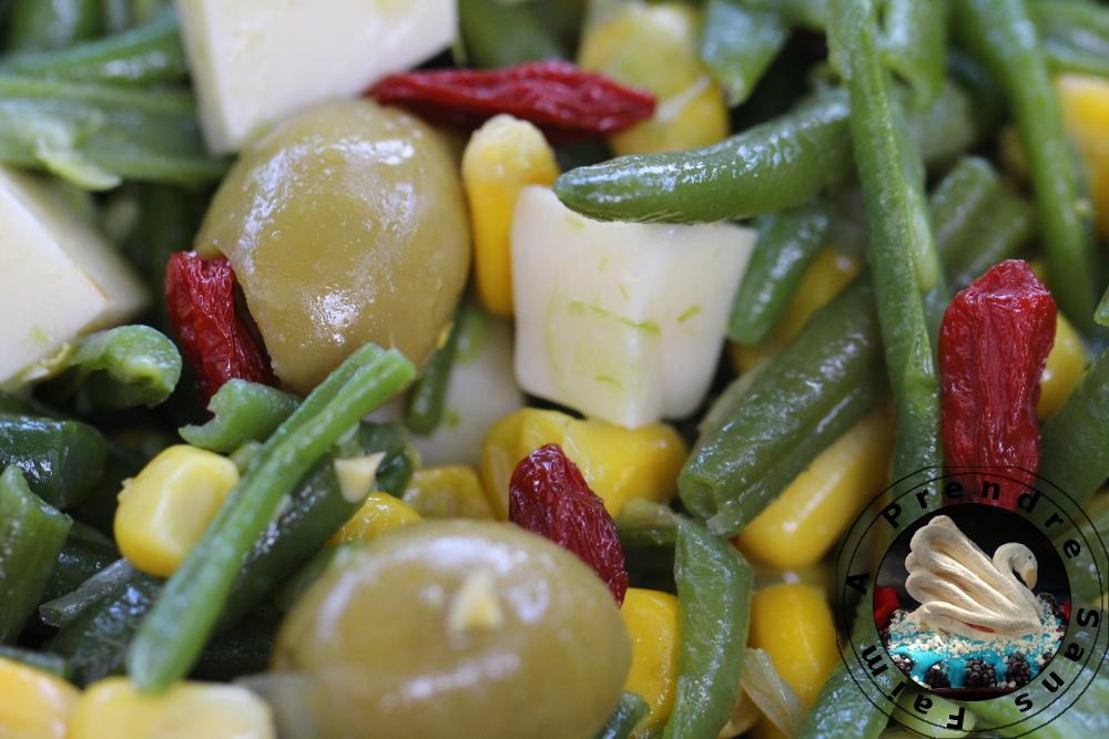 salade d 39 haricots verts aux baies de goji a prendre sans faim. Black Bedroom Furniture Sets. Home Design Ideas