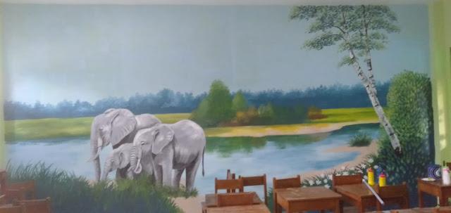 Lukis Dinding Mural Sekolah Dasar