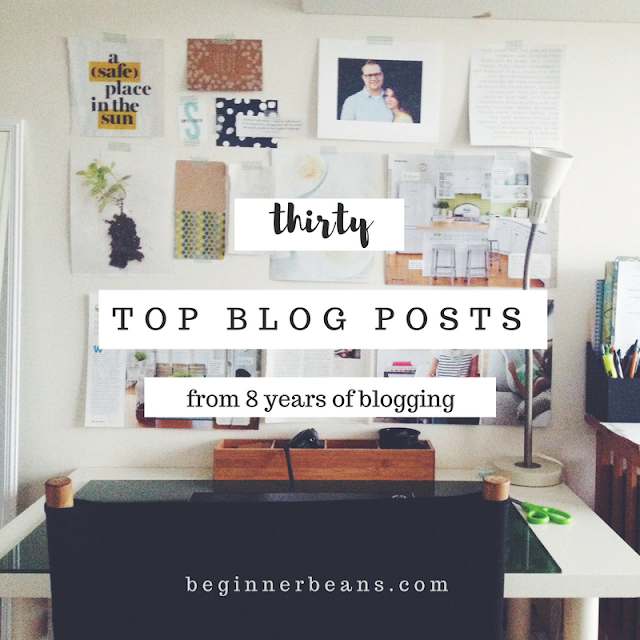 30 Top Blog Posts | 8 years of BeginnerBeans.com