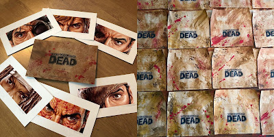 "San Diego Comic-Con 2019 Exclusive The Walking Dead ""Eyes Without A Face"" Print Set by Jason Edmiston x Skybound"
