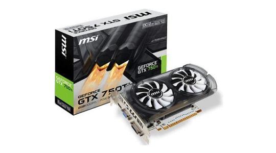 MSI GeForce GTX 750 Ti 2GB GDDR5 Graphics Card