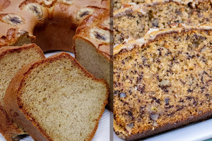 Banana Bread - Banana Cake, Pecans - Coffee