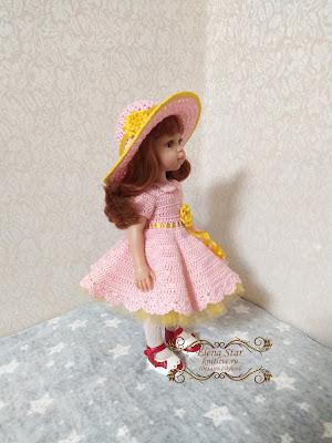 Комплект платье с подъюбником и шляпкой