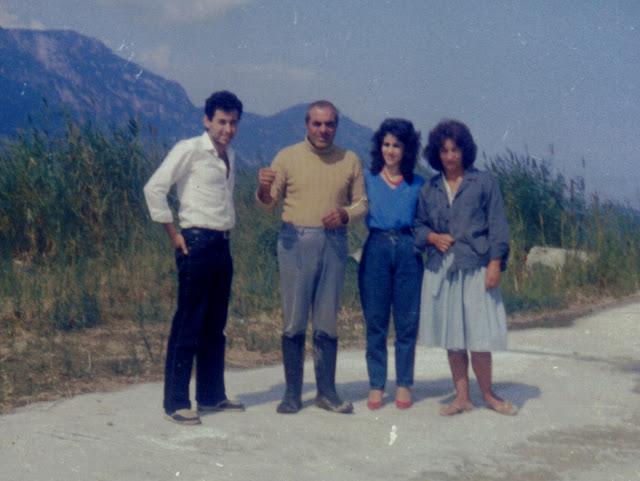 Χάρης και Τούλα Μοσχοπούλου με το ζεύγος Καζαντζίδη