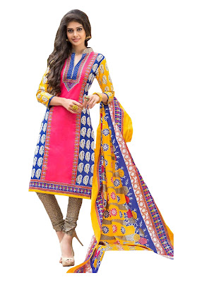 Laado Pure Cotton Printed Unstitched Dress Material from FashionDiya