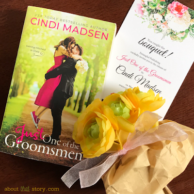 Book Review: Just One of the Groomsmen (Getting Hitched in Dixie #1) by Cindi Madsen | About That Story