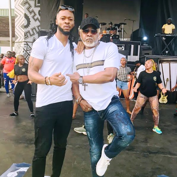 Awilo Longomba with Nigerian Singer Flavour