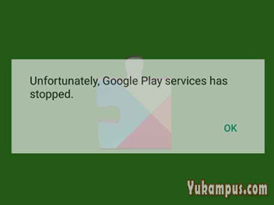layanan google play services terhenti