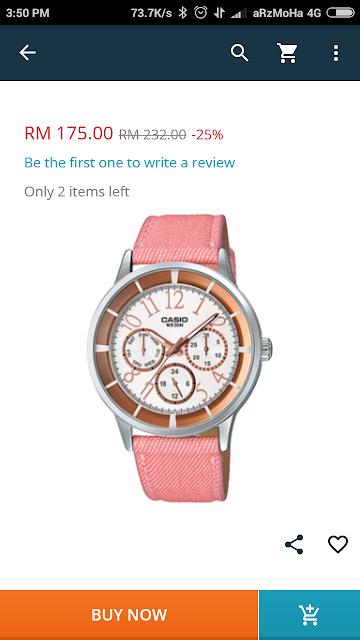jam tangan casio untuk wanita, hadiah untuk teman wanita, beli jam di lazada, 5 barang yang diimpikan di lazada,