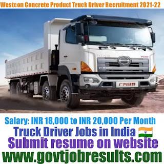 Westcon Concrete Heavy Truck Driver Recruitment 2021-22