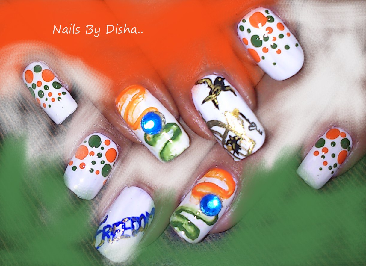 Pakistan Independence Day Nail Art 4 Designs: Nail The Art : Independence Day Manicure Free Bird
