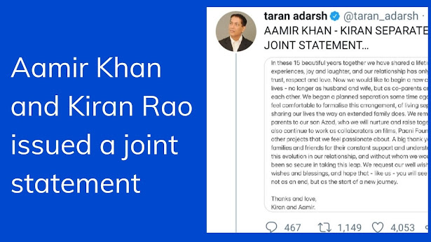 joint statement of amir and kiran rao