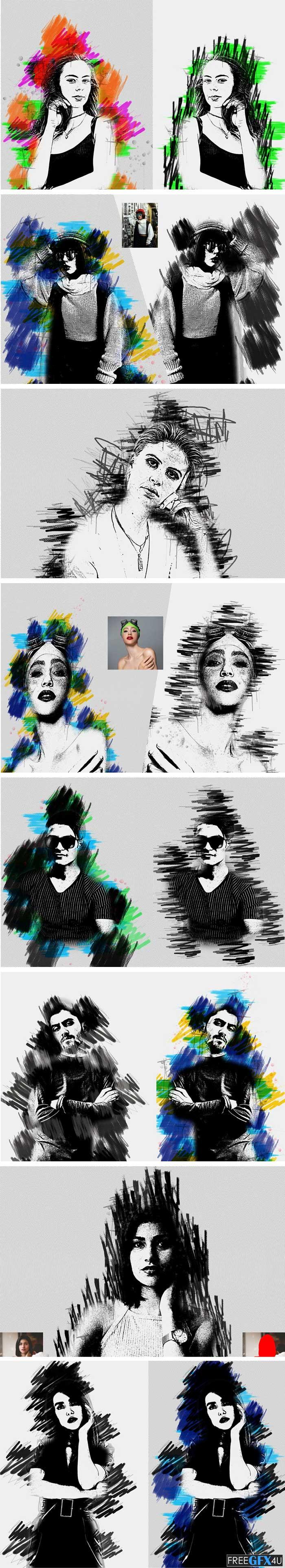 Marker Art Photoshop Action