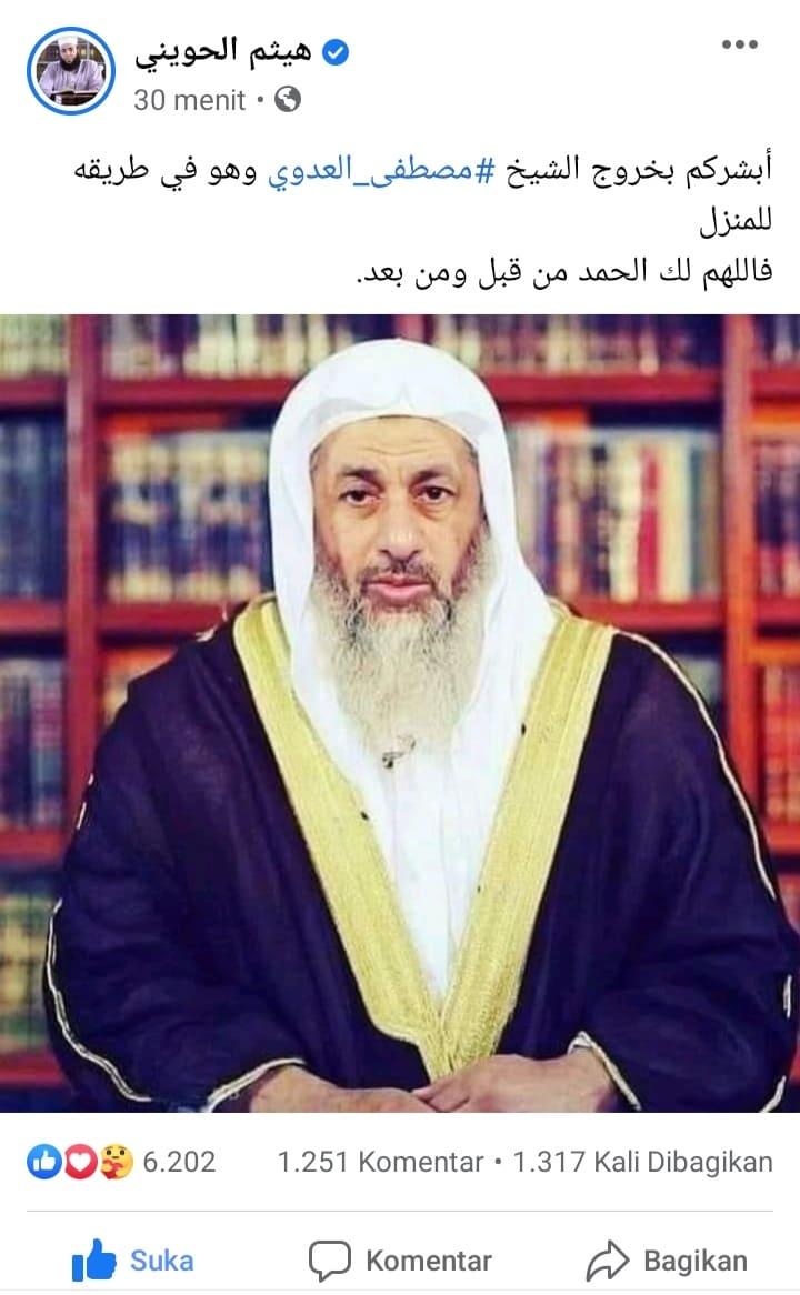 Kecam Prancis, Syaikh Mushtofa Al Adawi ditangkap oleh Pemerintah Mesir