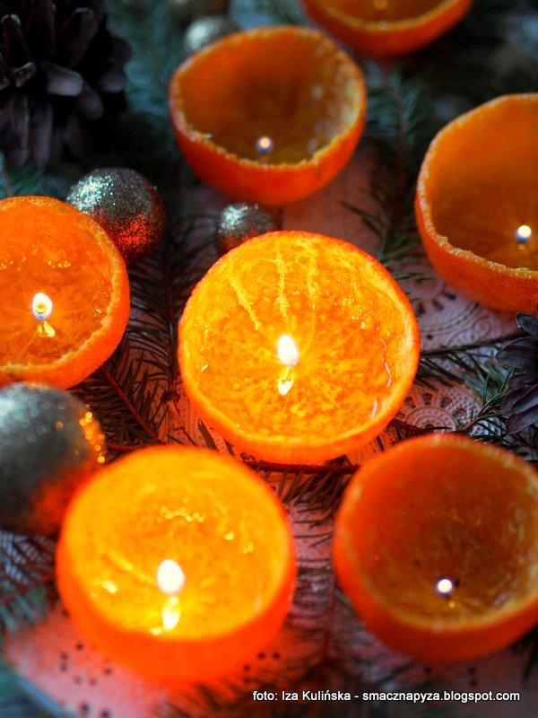 lampki mandarynkowe, swieczki owocowe, mandarynki, skorki cytrusowe, swiateczne diy, ozdoby swiateczne