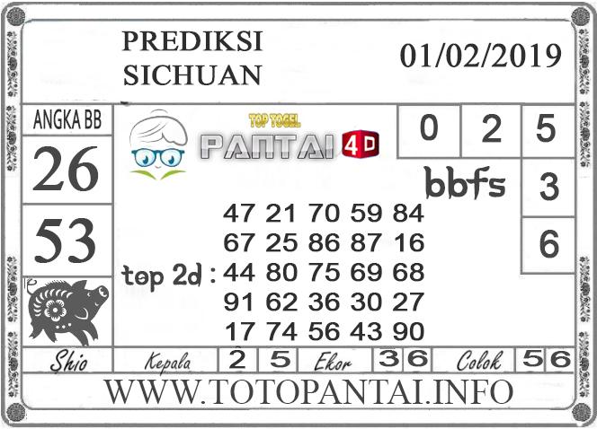 """Prediksi Togel """"SICHUAN"""" PANTAI4D 01 FEBRUARI 2019"""