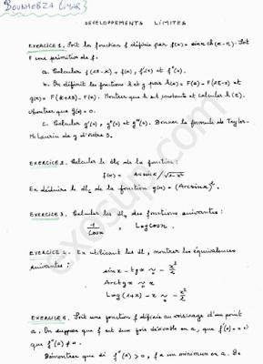 analyse 1 exercices sur le développement limité smpc s1