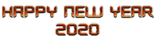 Happy New Year 2020 PNG File