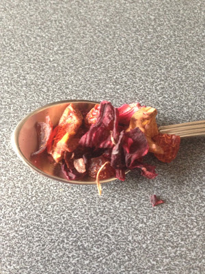 Peach Garden Fruit Infusion on a spoon