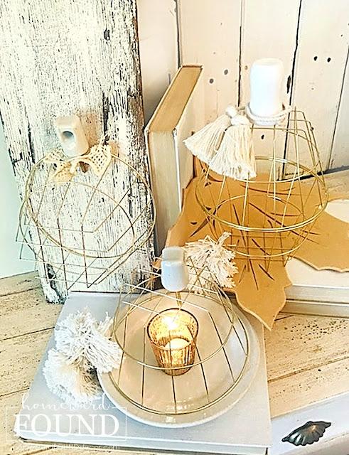 coastal style, beach style, decorating, diy decorating, re-purposing, white, DIY, vintage style, boho style, neutrals, metallics, vintage, thrifted, fall, pumpkins, fall decorating, pumpkin decor, decorating with pumpkins, diy pumpkins, wire pumpkins, fall home decor, farmhouse decor, boho chic home decor, boho chic fall decor, Dollar Tree crafts, Dollar Tree DIY.