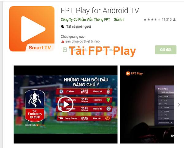 Tải FPT Play về cho máy tính Win 10, Win 7 xem TV Online miễn phí a
