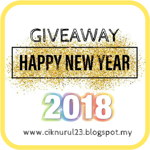 http://ciknurul23.blogspot.my/2017/12/giveaway-happy-new-year-2018.html