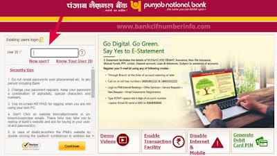 Login to Punjab National Bank