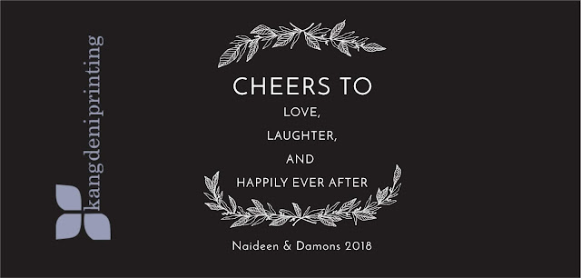 Cheers To Love Laughter and happily ever after Black
