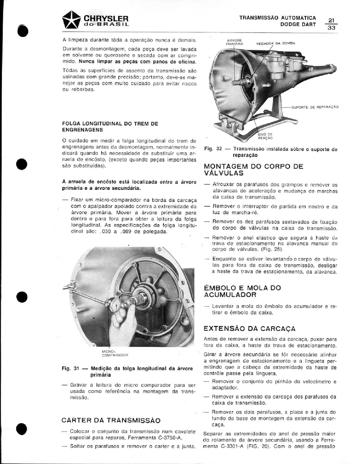MANUAIS DO PROPRIETÁRIO GRÁTIS: MANUAL DE SERVIÇO DODGE 1979