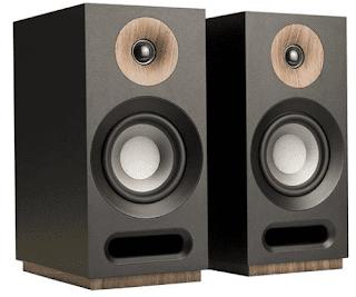 $109, Jamo S 803 Dolby Atmos Bookshelf Speakers, Black, Pair
