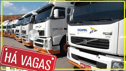 Transportadora Roma está contratando motorista