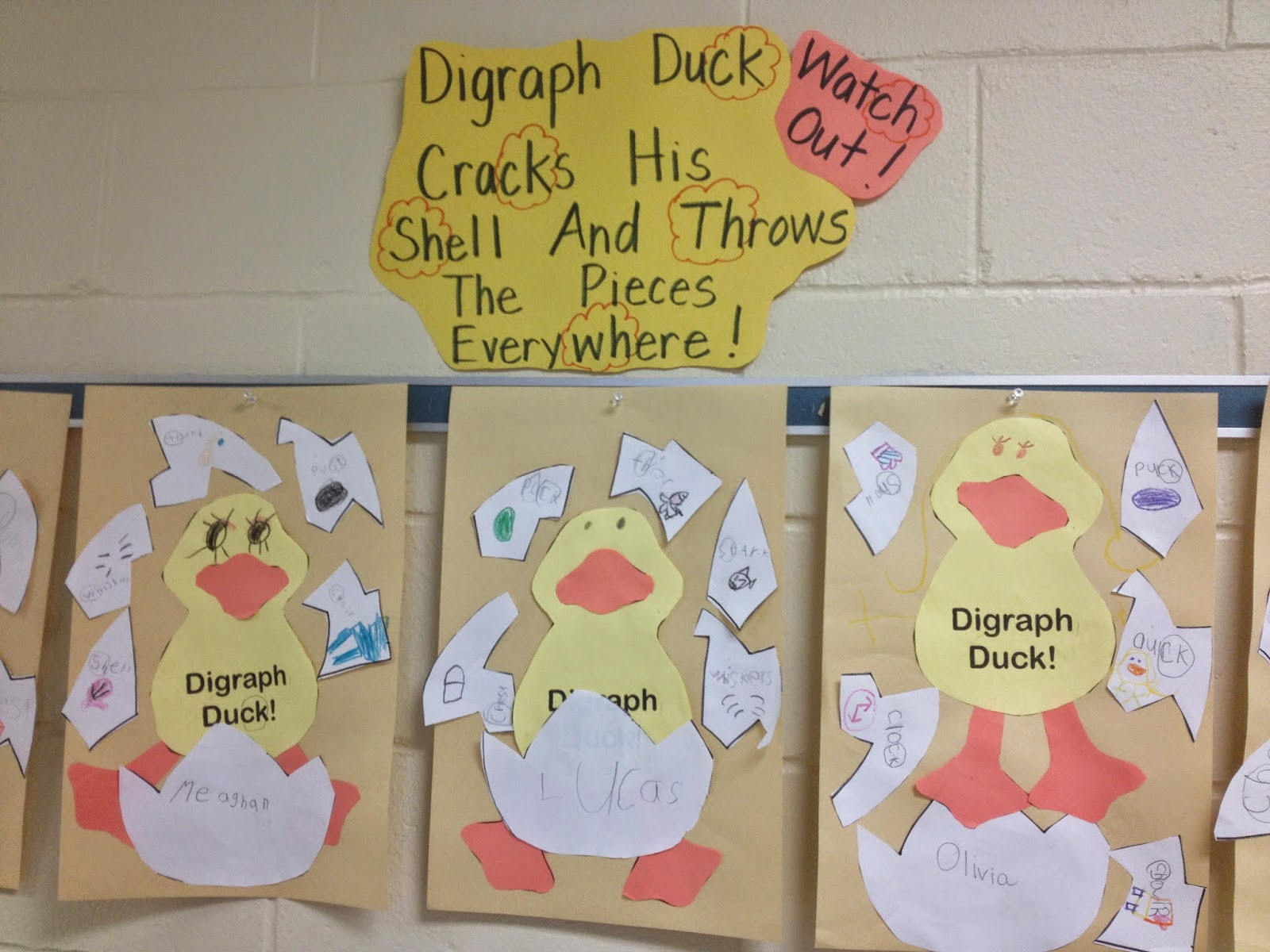 Crayons Amp Cuties In Kindergarten Digraph Duck Is Cracking From His Shell