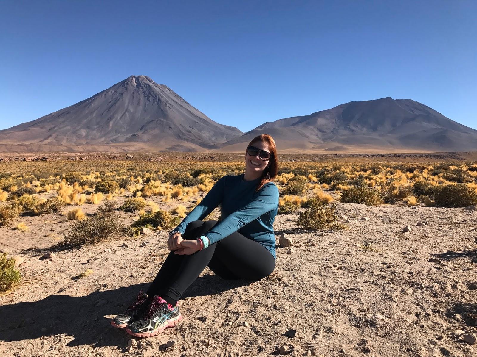 Vista para o Licancabur - Deserto do Atacama