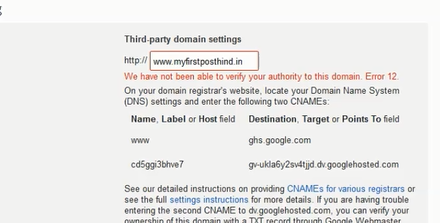 blogger third party domain settings