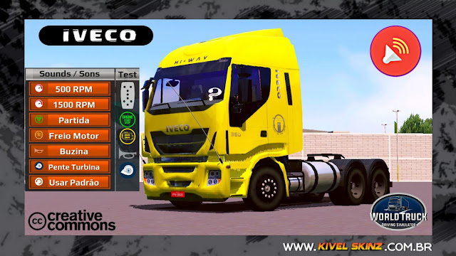 SONS QUALIFICADOS PARA O IVECO HI-WAY