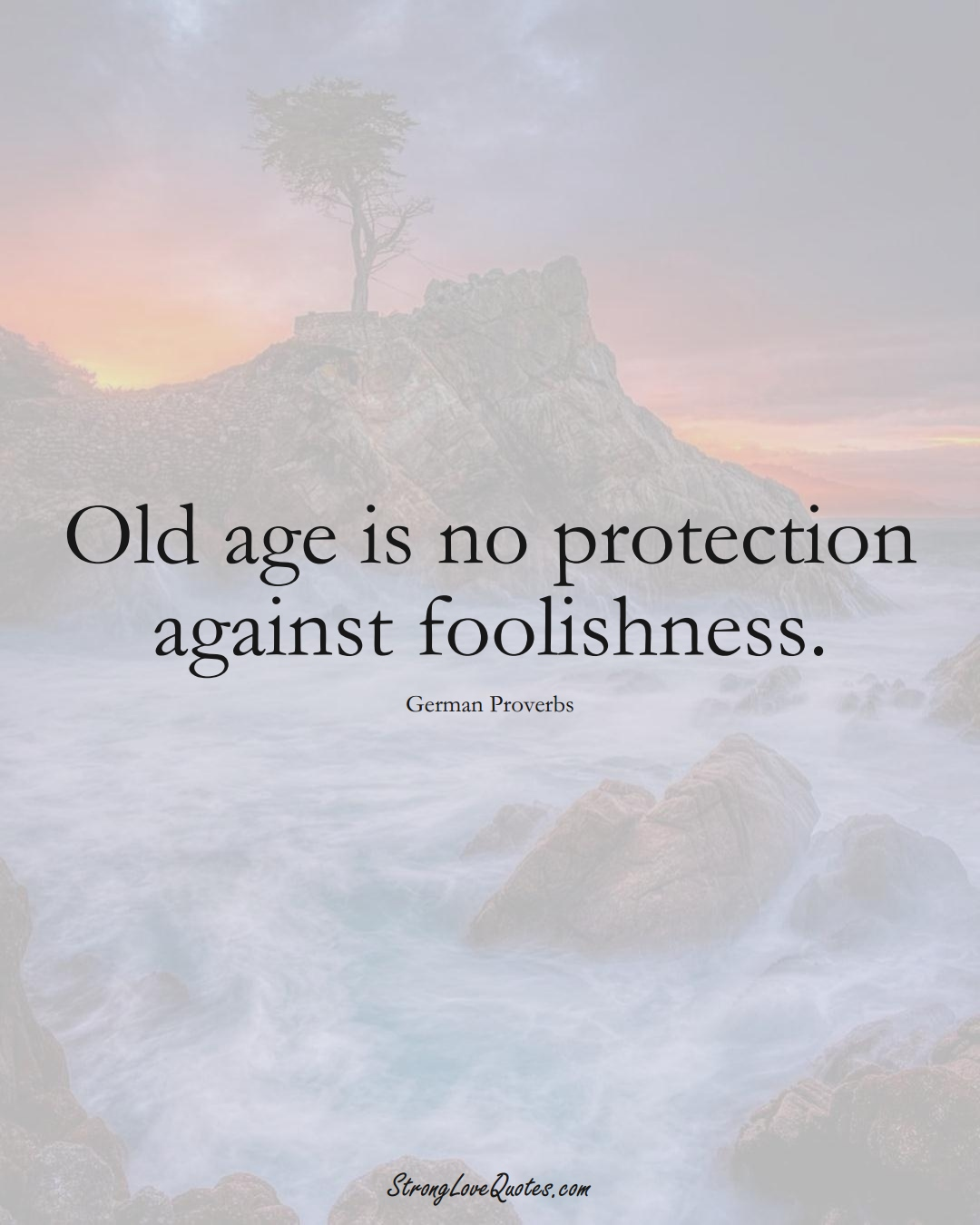Old age is no protection against foolishness. (German Sayings);  #EuropeanSayings