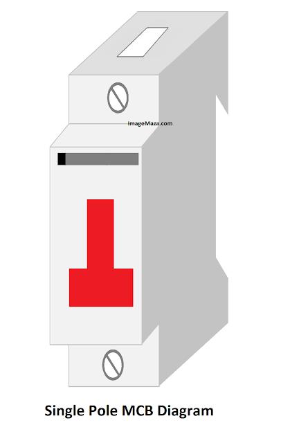 single pole mcb diagram, diagram of single pole mcb
