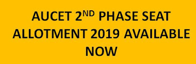 AUCET 2nd Seat Allotment Results 2019 available now @ auvspdoa.in 1