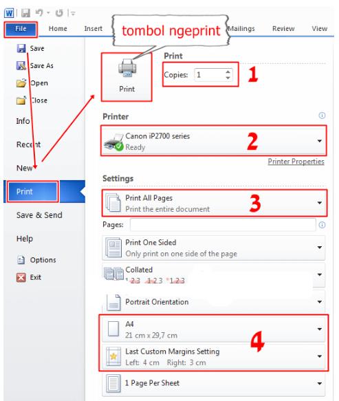Cara Ngeprint di Microsoft Word, Microsoft Excel, Dari Google di Komputer atau Laptop